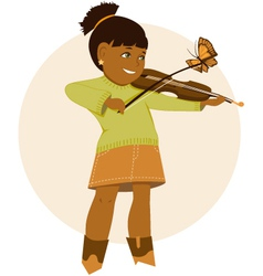 Little violinist vector image