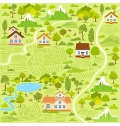village map vector image