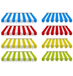 Colored awnings set vector image