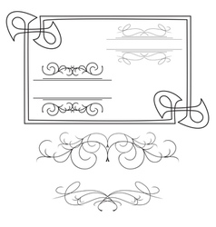 set of various curved elements vector image