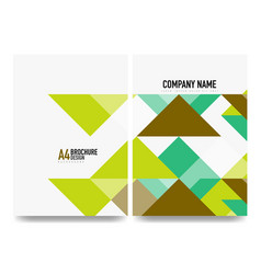 business brochure cover layout flyer a4 template vector image