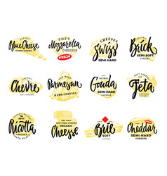 organic food logos set vector image