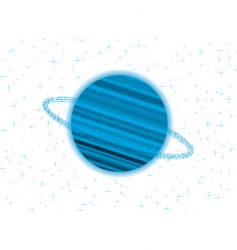 Saturn twist vector image vector image