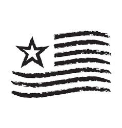 American wave flag grunge symbol independence day vector
