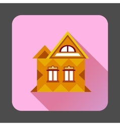 Cool detailed house icon flat style vector image vector image