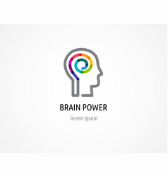 creative colorful logo human head mind brain vector image vector image