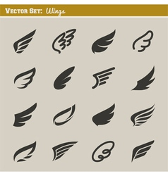 Wings - set of design elements vector image vector image
