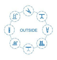 8 outside icons vector