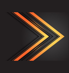 Abstract double gold light arrow direction vector