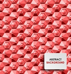 Abstract red hexagon background template vector