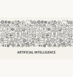 Artificial intelligence banner concept vector