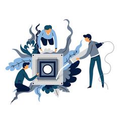 artificial intelligence creation microscheme vector image