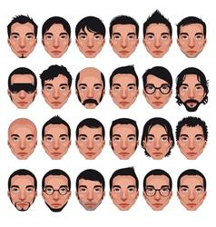Avatar mens portraits vector
