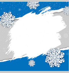 banner with ripped poster vector image