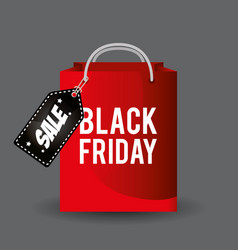 black friday promotion label vector image
