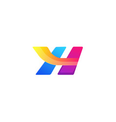 Bright letter h colors logo template concept vector