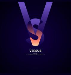 Bright poster symbols confrontation vs vector