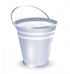 Bucket with milk vector