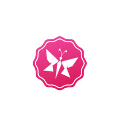 Butterfly beautiful and simple bright and elegant vector