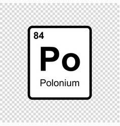 chemical element polonium vector image