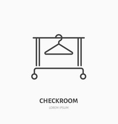 clothes hanger icon clothing rack line logo flat vector image