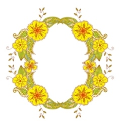 Colorful Mehendi frame vector image