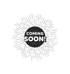 Coming soon promotion banner sign vector
