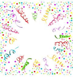 Confetti serpentine white background vector
