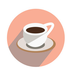 Cup with hot tea on white background flat vector