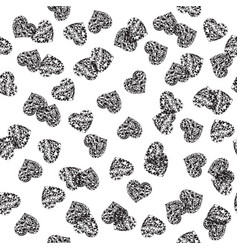 Cute backdrop with hearts vector