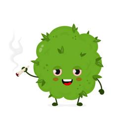 cute funny smiling happy marijuana vector image