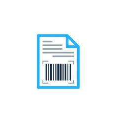 document barcode logo icon design vector image