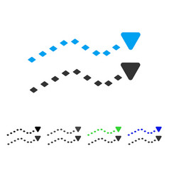 Dotted trends flat icon vector
