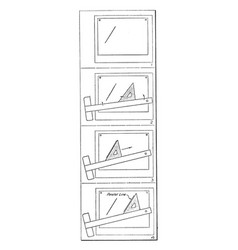 Drawing parallel lines exercise lighter or darker vector