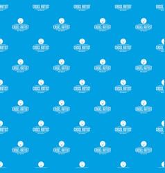 easel artist pattern seamless blue vector image