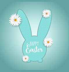 easter background with bunny shaped cutout and vector image