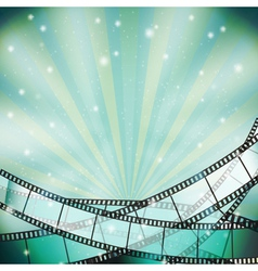 Film background retro blue vector
