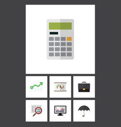 Flat icon incoming set of calculate diagram vector