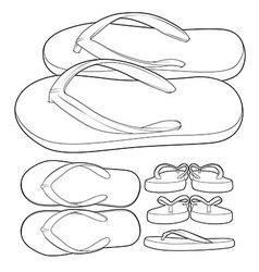 Flip flop sandal shoes vector
