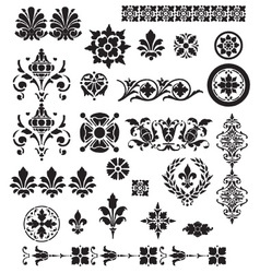floral decorative set vector image