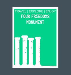 four freedom monument madison florida monument vector image
