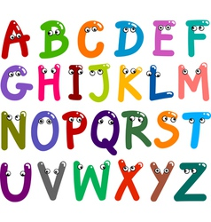 funny Capital Letters Alphabet vector image