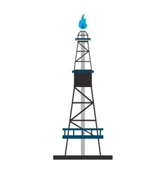 gas or oil refinery icon vector image
