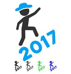 Gentleman climbing 2017 flat icon vector