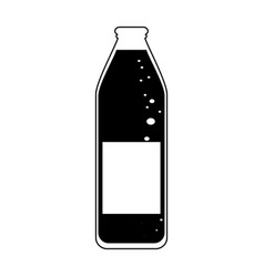 Glass bottle icon image vector