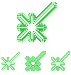 Green line discovery logo design set vector