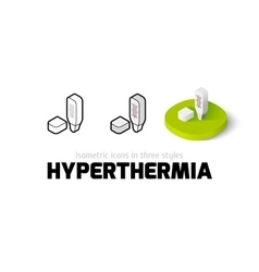 Hyperthermia icon in different style vector image