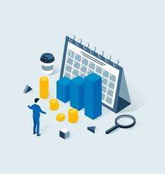 investment business planning risk management vector image