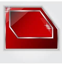 Isolated red frame for your text vector image