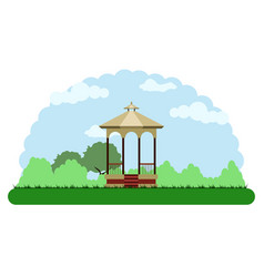 landscape of a park vector image